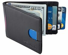 Front Pocket Wallet Money Clip Rfid Blocking Leather Id Credit Card Slim Holder