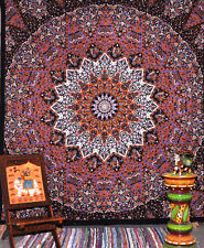 Psychedelic Mandala Tapestry Cotton Flat Bed Spread Room Home Decor Yoga Sheet 1