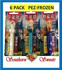 PEZ FROZEN MIXED BOX  6 PACK LIMITED EDITION FRUITY LOLLIES FROZEN CHARACTERS