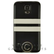 Samsung Galaxy S5 Candy Skin Leather Black/White Cover Shell Protector Guard