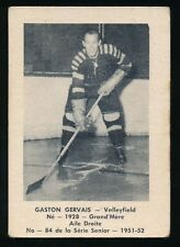 1951-52 Laval Dairy (QSHL) #84 GASTON GERVAIS (Valleyfield)