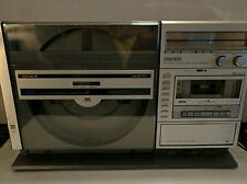 Sharp VZ-3000 Linear Vertical 2 Sided Record Player FM/AM Cassette Recorder