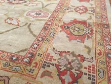 100% pure Wool Persian Sultanabad  Mahal Rug, Beige Rectangle size 7'ft X 11'ft