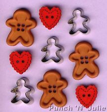 GINGERBREAD uomini Cuore COOKIE CUTTER Natale Novelty Dress IT UP Pulsanti Craft