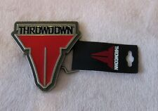 "Throwdown LOGO Metal Belt Buckle Officially Licensed Merchandise 3"" by 3"""