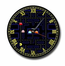 PAC MAN METAL CLOCK,250MM DIAMETER, RETRO GAMING,PIXALS,NAMCO,