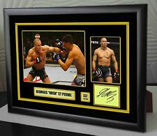 "Georges St-Pierre UFC framed canvas tribute signed Limited Edition ""Great Gift"""