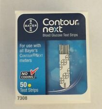 Bayer Contour Next Blood Glucose 50 Test Strips EXP 04/2017 Free Shipping