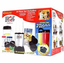 Magic Bullet Deluxe 26-Piece Blender Mixer Grinder Chopper System Set - NEW