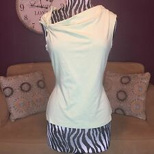 I.N.C Woman Knotted Tank Top Mint Green Color Size XL Blouse