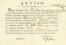 Comune di Fiesole e Pellegrino di Careggi Dipartimento dell'Arno Napoleone 1812