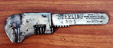 "ANTIQUE Wrench 5"" STERLING NO 1 FRANK MOSSBERG CO BICYCLE WRENCH PAT 1900 USA"