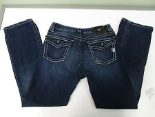 D9 JEANS SLICK STRETCH THICK STITCHING BLING 5 POCKET DESIGN WOMEN'S 32 EUC
