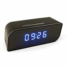 Spy Video Camera Clock Hidden Cam Internet Wifi Motion 720p Wideangle Covert