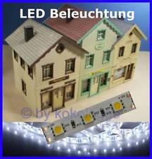 S545 - 10 Stück LED Hausbeleuchtung 5cm WEIß ULTRA HELL f. Häuser Spur G + 1 + 0