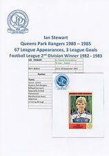 Ian Stewart Queens Park Rangers 1980-1985 ORIGINALE FIRMATO Panini Sticker-USATO