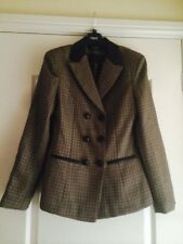 "Ladies Brown Checked Blazer - Size 8 - ""BNWT"""