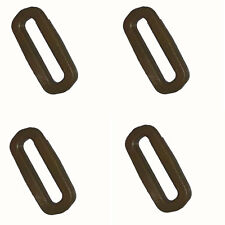 "4 x ITW Nexus Tan 500 GhillieTEX IRR 25mm / 1"" Plastic Square Rings Loops ( DIY"