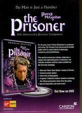 """The Prisoner """"Out Now On DVD"""" 2002 Magazine Advert #5486"""