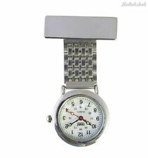 Censi Unisex Silver Plated Nurse/Tunic Fob Watch Brooch Extra Battery Fast Ship