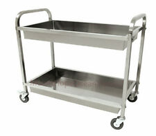 Stainless Steel Serving Cart Kitchen Food Catering Rolling Utility Dolly Outdoor