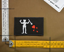 Patch ricamata Seal team VI DEVGRU blackbeard pirate flag embroidery  velcro