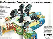 PUBLICITE ADVERTISING 095  1973  BAUER BOSCH  caméras éléctroniques ( 2p)