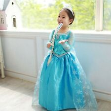 Girl Dresses Kid's Party Princess Children Clothing Cosplay Costume size 7