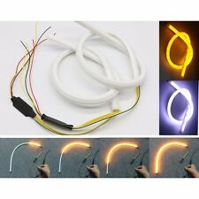2x60cm Sequential Switchback Daytime Running Turn Signal Strip Light Amber/White