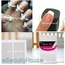 5 packs(240pc)French Manicure Nail Art Tips Form Guide Sticker DIY Stencil #020C