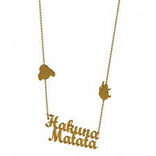 DISNEY COUTURE SALE! Gold Plated Lion King Hakuna Matata Necklace (RRP £48)