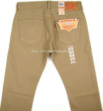 Levis 501 Jeans New Original Mens Size 33 x 30 TIMBERWOLF (Khaki) #1118