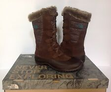 The North Face Nuptse Purna Women  Round Toe Suede Brown Snow Boot Sz 6.5