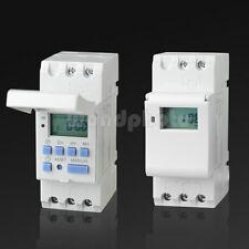 Práctico Carril DIN Temporizador Digital Programable Interruptor THC15A AC 220V