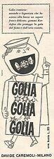 W8822 Caramelle GOLIA - Pubblicità del 1958 - Vintage advertising