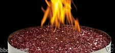 Gas Fireplace Red Glass Ember Media Kit MKGR New