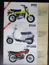 BROCHURE CATALOGUE 1983  MOTO SUZUKI  RT 80 OVNI CS GT  ES  DR GS GN 125