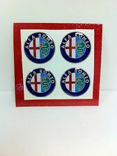 49mm Wheel Center Emblem Set For Alfa Romeo Spider GTV 164 Milano - NEW - #825
