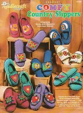 USED COMFY COUNTRY SLIPPERS MEN & WOMEN CROCHET PATTERN BOOK