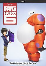Big Hero 6 DVD Film Walt Disney Family Kids Baymax Hiro Hamada Tadashi GoGo Six