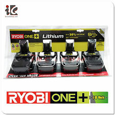 Ryobi 18V 18-Volt ONE+ Compact Lithium-Ion Battery P181 P102 (4-Pack) Brand New