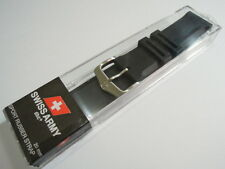 NEW 20MM SWISS MILITARY / WENGER BLACK SPORT RUBBER STRAP FOR MEN'S WATCH