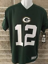 Green Bay Packers Rodgers #12 NFL Football JERSEY $50 MSRP Youth Size Medium