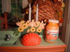 Miniature Thanksgiving Pumpkin Jar Pie Filling for Loving Family Dollhouse