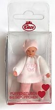 "Caco Dollhouse BABY GIRL DOLL 1:12 scale Miniature 2.25"" Pink made in Germany"