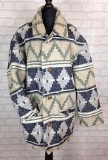 VINTAGE RETRO AZTEC URBAN TRIBAL NAVAJO OVERSIZED FESTIVAL JACKET COAT M