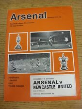 06/10/1971 Arsenal v Newcastle United [Football League Cup] (Token Removed). Thi