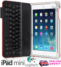 Logitech UltraThin iPad Mini 1,2 or 3 Bluetooth UK Keyboard Folio Red Case Cover