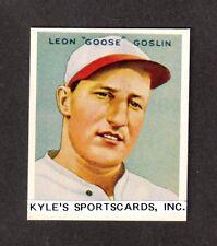 1933 GOUDEY REPRINT Goose Goslin SENATORS UNSIGNED  2-3/8 x 2-7/8  PHOTO CARD #2