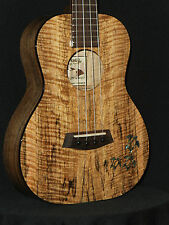 KANILEA HONU (TURTLES) CUSTOM RARE PREMIUM CURLY MANGO 4 STRING TENOR UKULELE